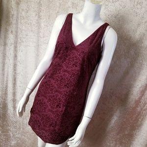 Urban Outfitters Burgundy Velvet Dress Size XS